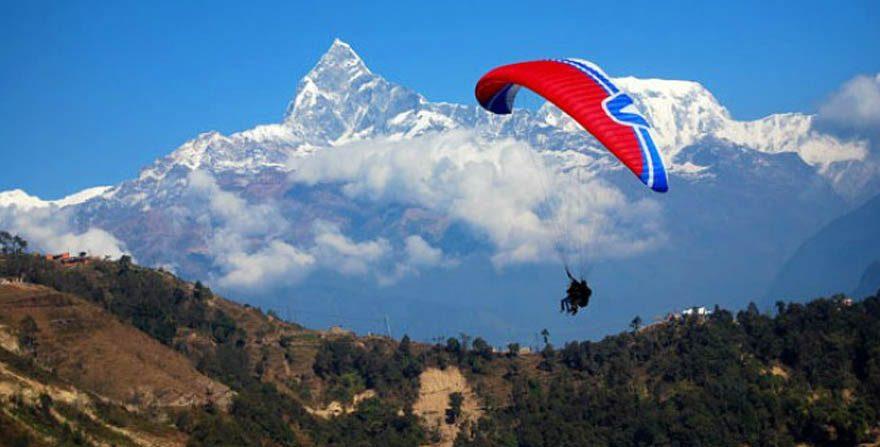 Paraglading in Pokhara