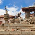 Stonemason at work in Bhaktapur